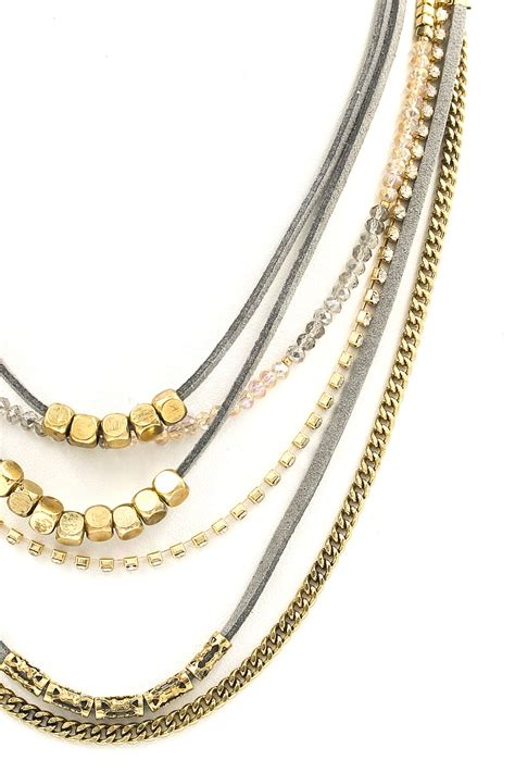 multi layered beaded necklace necklaces