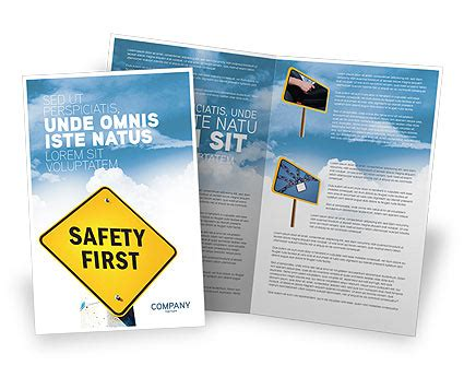Safety First Brochure Template Design And Layout Download Now 04449 Poweredtemplate Com Safety Brochure Template Free