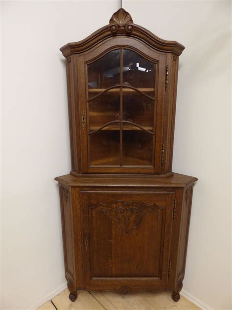 Antique French Chairs by Vintage French Corner Display Cabinet F06 The French Depot