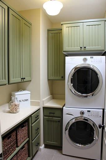 Painting Laundry Room Cabinets Green Cabinets In Laundry Room Hooked On Houses