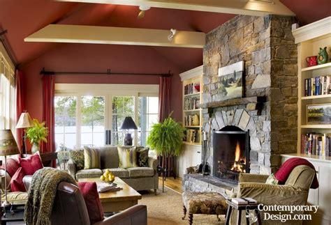 living room fireplace design living room with stone fireplace