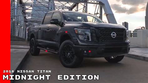 nissan titan midnight edition 2018 nissan titan and titan xd midnight edition