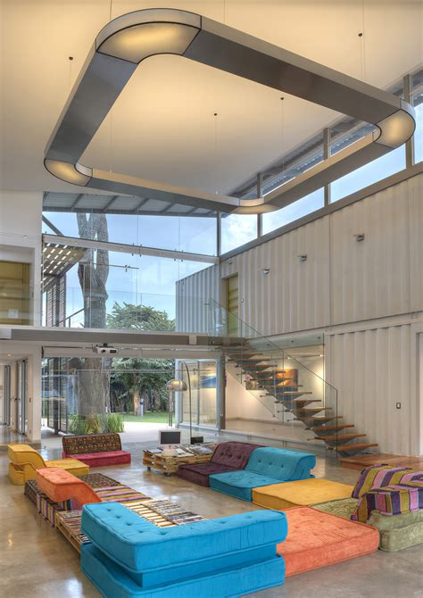 home design story level up 8 shipping containers make up a stunning 2 story home