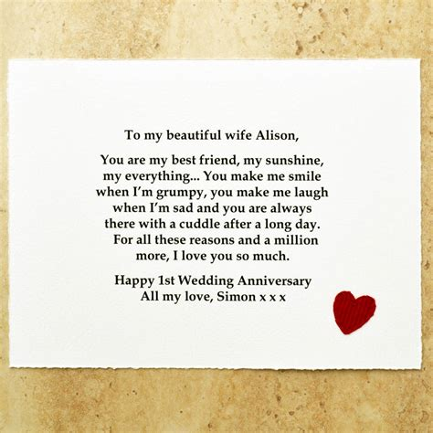 Marriage Gift Card Message - best friend paper first wedding anniversary gift by jenny arnott cards gifts