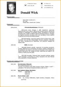 Sample Of A Curriculum Vitae Pdf by 7 English Cv Model Lettre Administrative