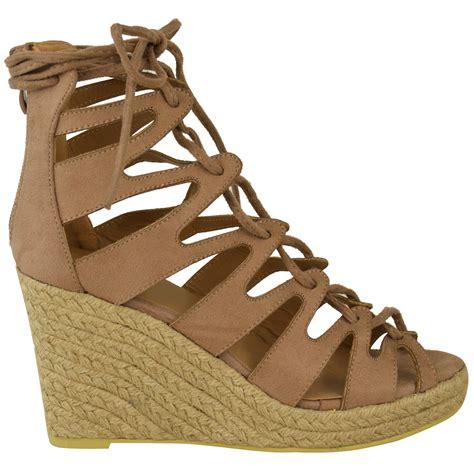 wedge gladiator sandals new womens espadrille summer wedge platform