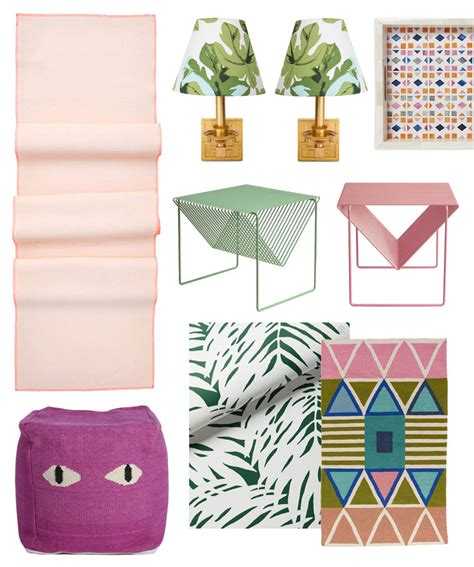 home improvement classic decor combos pink and green