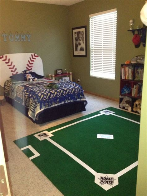 Baseball Room Decor Diy Baseball Field Rug For Baseball Room Went To Menards And Got 6 X 7 Golf Green