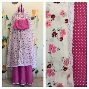 Murah Meriah Perlengkapan Ibadah Sholat Mukena Anak Wanita Strawbery 1 mukena bahan katun jepang untuk kaum wanita muslimah sentra obral baju pakaian anak murah