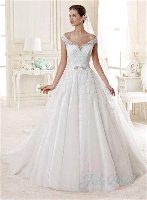 Renda Top By Princess jw15147 portrait shoulder lace princess gown