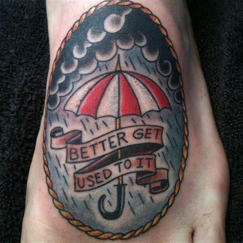 paper umbrella tattoo tiny one on the foot rojas 7thson umbrella at 7th son