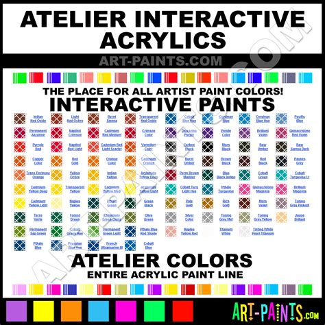 atelier interactive acrylic paint colors atelier interactive paint colors interactive color