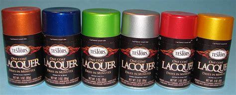 testors one coat lacquer spray paints