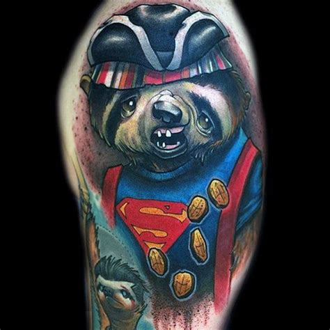 camo superman tattoo 70 sloth tattoo designs for men ink ideas to hang onto