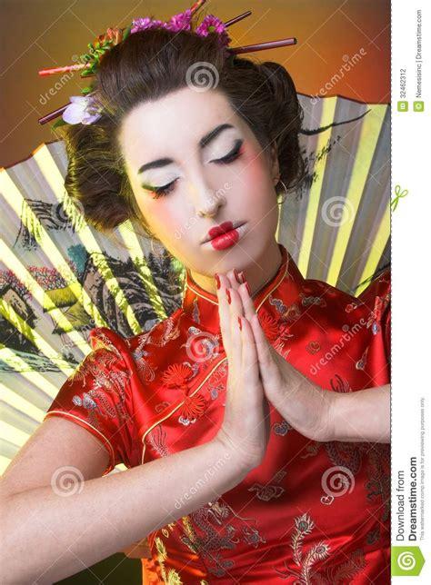 girl  japanese style stock photo image  hair females