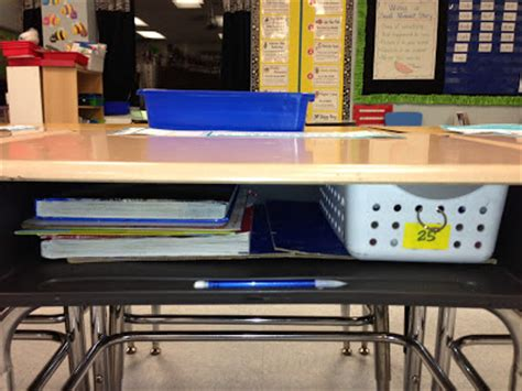 first grade fancy keeping students desks organized