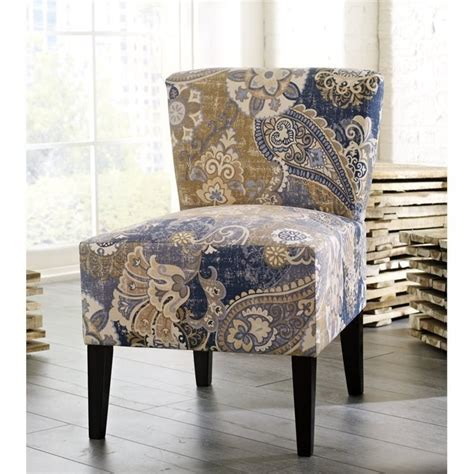 paisley accent chair ravity fabric accent chair in paisley denim 4630460