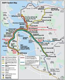 san francisco bart system map railway mapsof net san