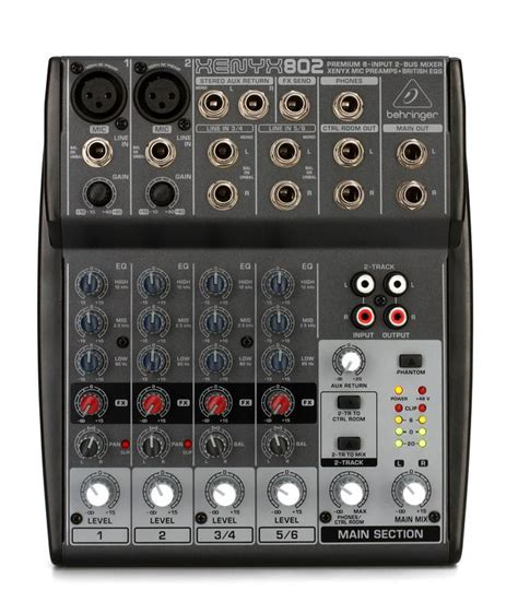 Mixer Audio Behringer Xenyx 802 behringer xenyx 802 mixer sweetwater