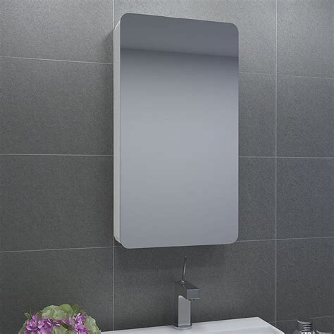 730mm Shower Door Modern Bathroom Mirror Cabinet Wall Hung Storage Unit Doors Sliding Door Ebay
