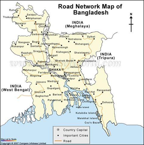 bangladesh road network map  road network bangladesh