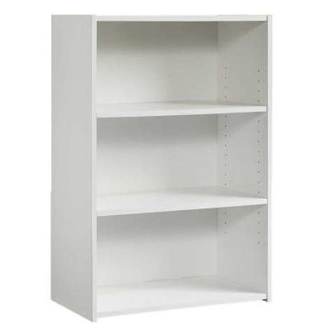 Sauder White Bookcase Sauder Beginnings Collection 35 In 3 Shelf Bookcase In Soft White 415541 The Home Depot