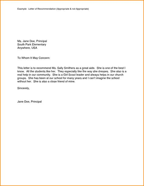 Reference Letter Sles Personal template of letter of recommendation 28 images 43 free