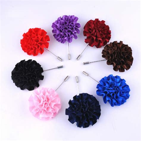 Brooch Handmade fashion handmade fabric brooch wedding brooch bouquet gentlemen lapel pins fashion flower brooch