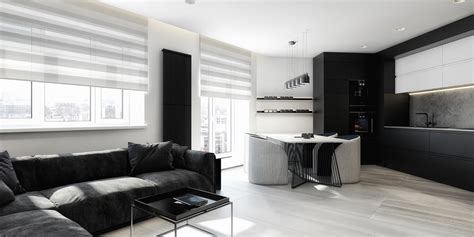 black and white interior 6 perfectly minimalistic black and white interiors