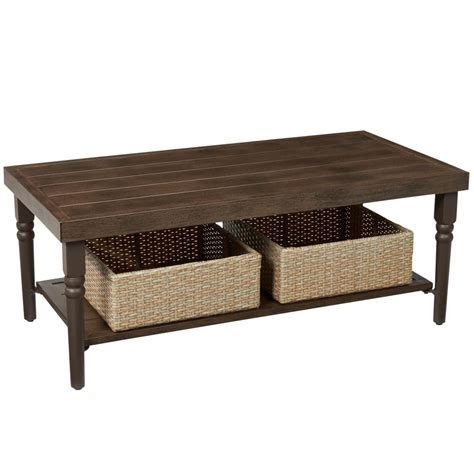 Coffee Table Outdoor Hton Bay Lemon Grove Wicker Rectangle Outdoor Coffee Table D11230 Tc The Home Depot