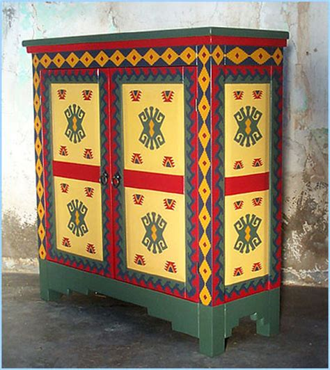 Mexican Painted Furniture by Southwest Cabinets Buffet Corner Jewelry Hutch Curio