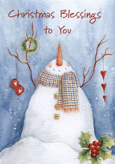 image of winters blessing christmas tree winter blessing snowman sabolla gruppo card by lpg greetings