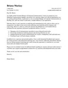 Computer Operations Manager Cover Letter by Leading Professional Assistant Manager Cover Letter Exles Resources Myperfectcoverletter