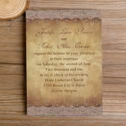 average cost of wedding invitations canada vintage burlap autumn wedding invitations iwi266