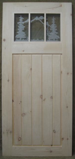 The Barn Corinth Ny Wood Door With Etching