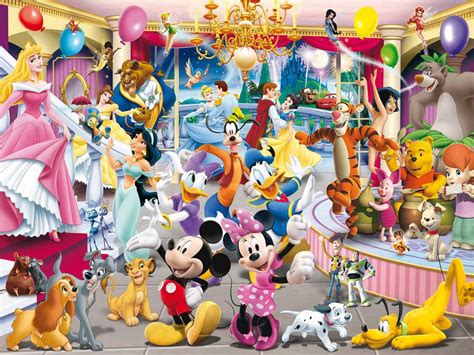 Nice Montage Christmas Cards #3: Disney-festival-wallpaper-disney-characters-mickey-donald-princess-prince.jpg