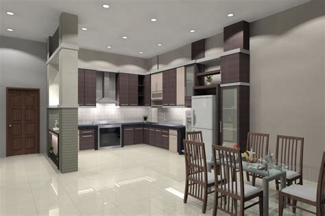 white kitchen cabinets with brown walls