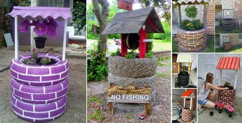 goods home design diy diy recycled tires wishing well home design garden
