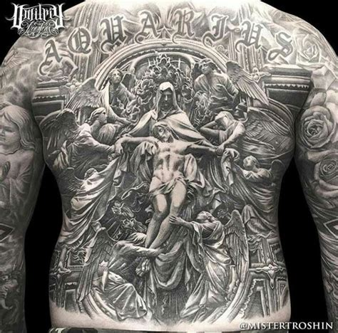men s full back tattoos by dimitry troshin detailed complete back