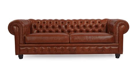 Chesterfield Style Modern Vintage Sofa Bordeaux Premium Premium Leather Sofas