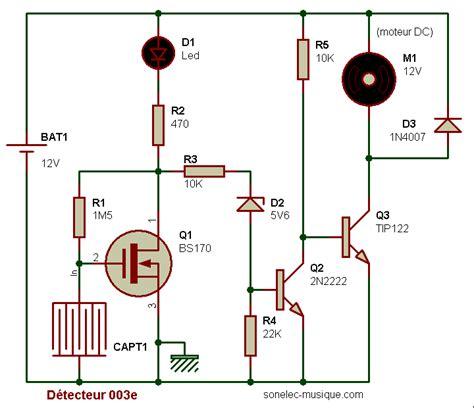 transistor fet fonctionnement electronique realisations detecteur humidite 003