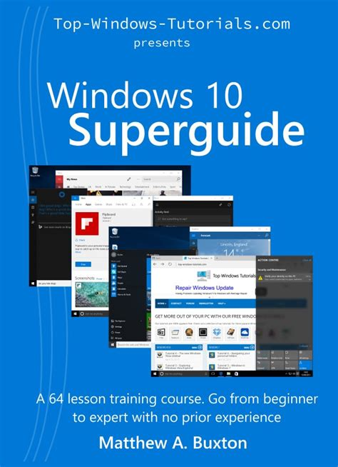 windows 10 tutorial book get windows 10 superguide in physical book format top