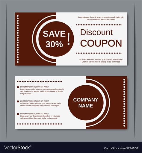 design hill discount code discount coupon design template royalty free vector image