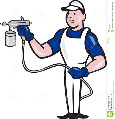 spray painter clipart spray painter spraying gun stock vector