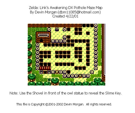 legend of zelda map maze the legend of zelda link s awakening dx pothole maze map