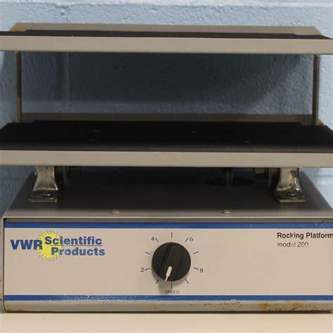 refurbished vwr scientific model  rocking platform shaker