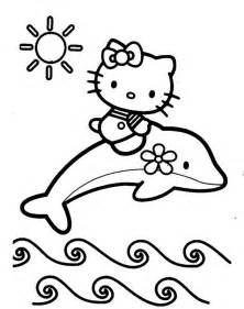 coloriage dauphins dessin coloriage kitty 224 colorier
