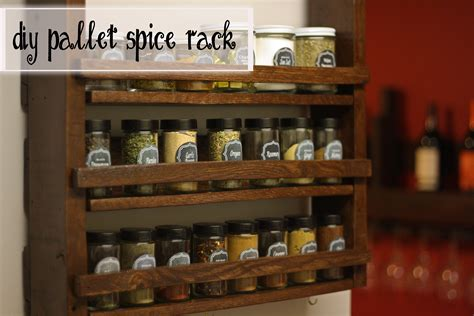 build a spice rack from pallets kitchen less than average height