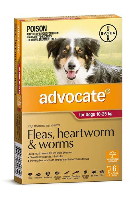 advocate flea worm control  dogs  kg