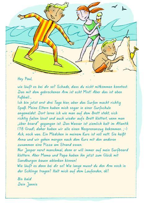 Urlaub Brief Beispiel Einen Pers 246 Nlichen Brief Schreiben Kapiert De